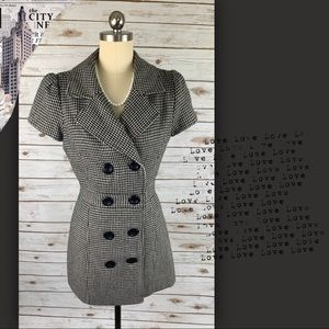 Forever 21 Houndstooth Double Breasted Blazer